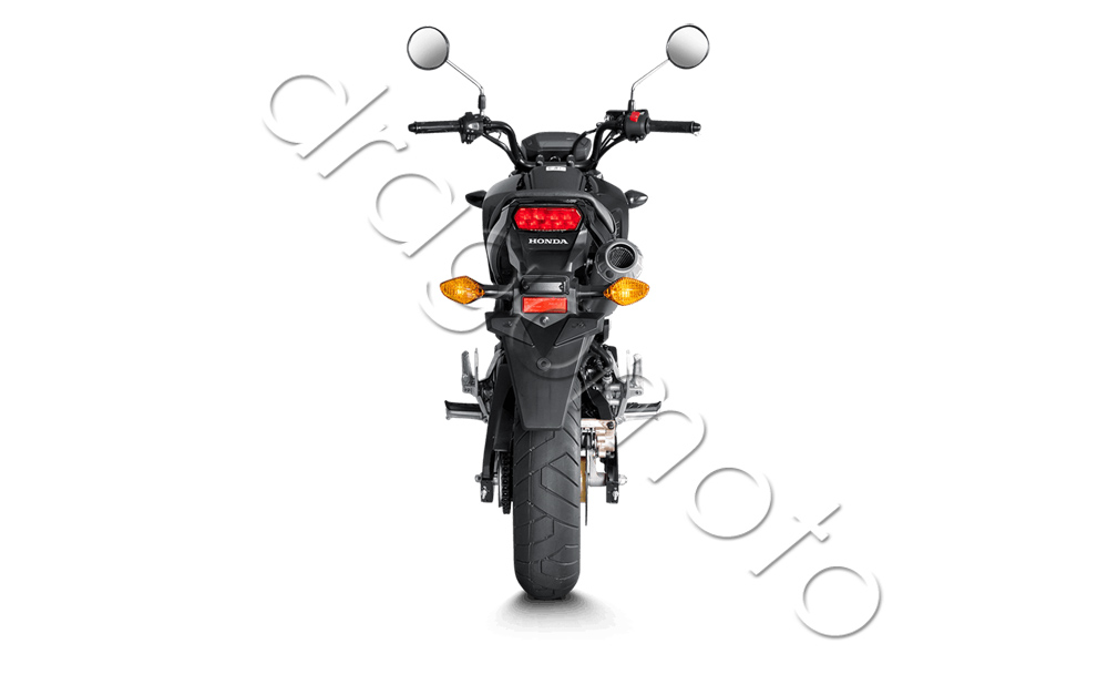 akrapovic honda msx 125 grom 2013 13 auspuff titan mit. Black Bedroom Furniture Sets. Home Design Ideas