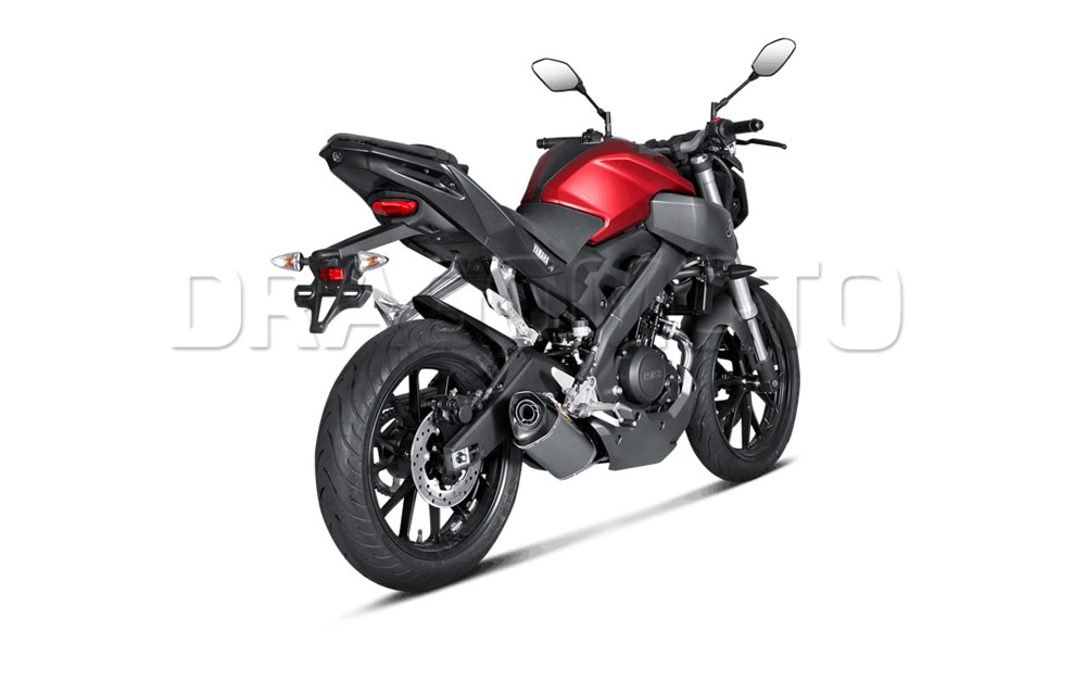 yamaha mt 125 akrapovic 2017 17 2018 18 full exhaust. Black Bedroom Furniture Sets. Home Design Ideas