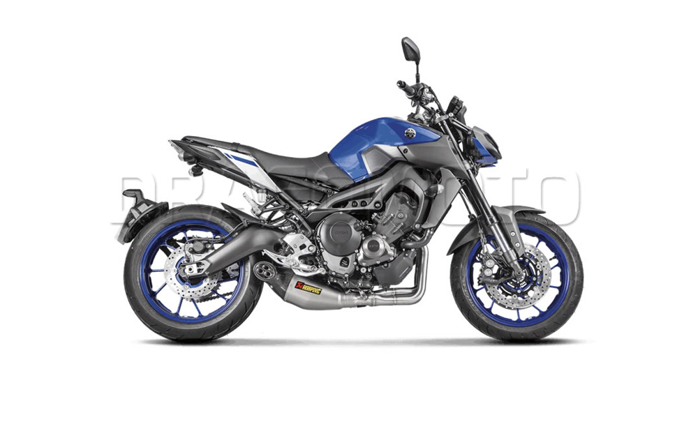akrapovic yamaha mt 09 mt09 2017 17 2018 18 full exhaust. Black Bedroom Furniture Sets. Home Design Ideas