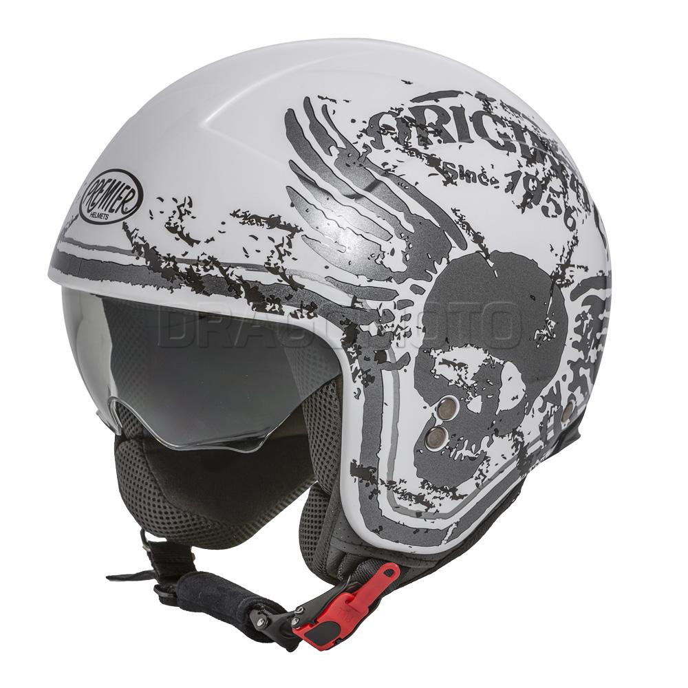 motorrad helm rocker k8 premier jethelme mit visier ebay. Black Bedroom Furniture Sets. Home Design Ideas
