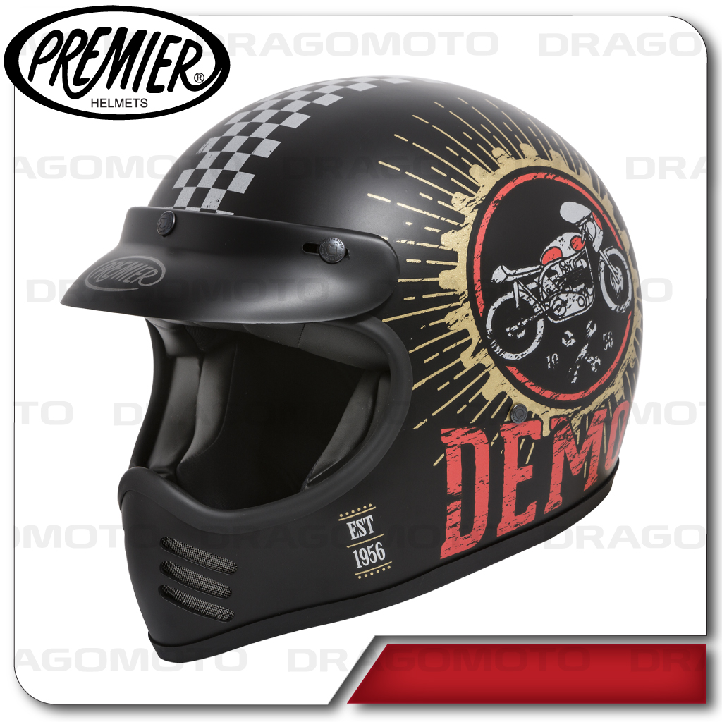 casque moto mx speed demon 9 bm premier int graux cafe racer ebay. Black Bedroom Furniture Sets. Home Design Ideas