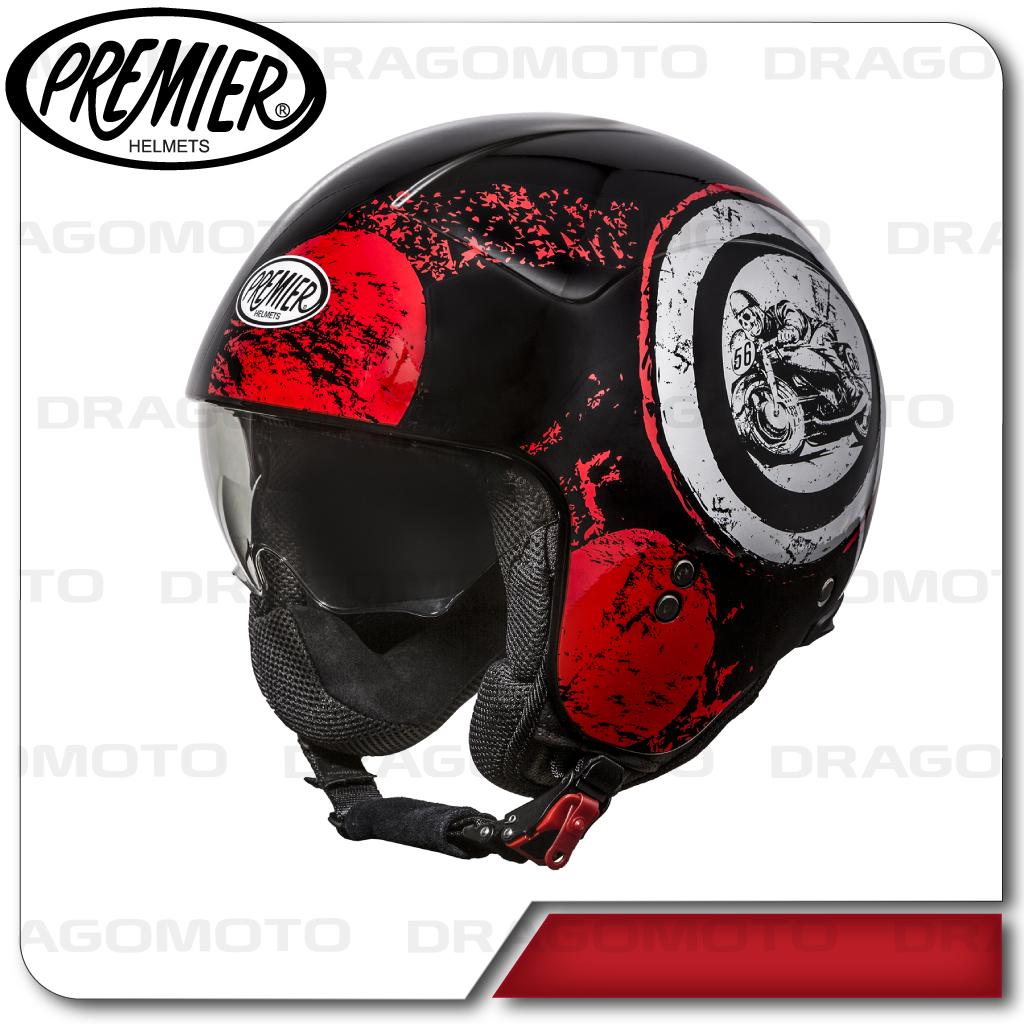 motorrad helm rocker sd92 premier jethelme mit visier ebay. Black Bedroom Furniture Sets. Home Design Ideas