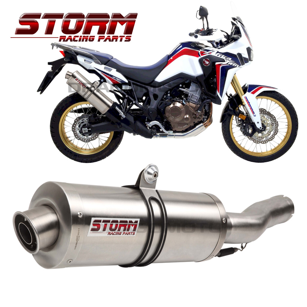 Crf 1000 L Africa Twin Honda 2016 2017 Storm By Mivv Exhaust Oval Road Legal Ebay